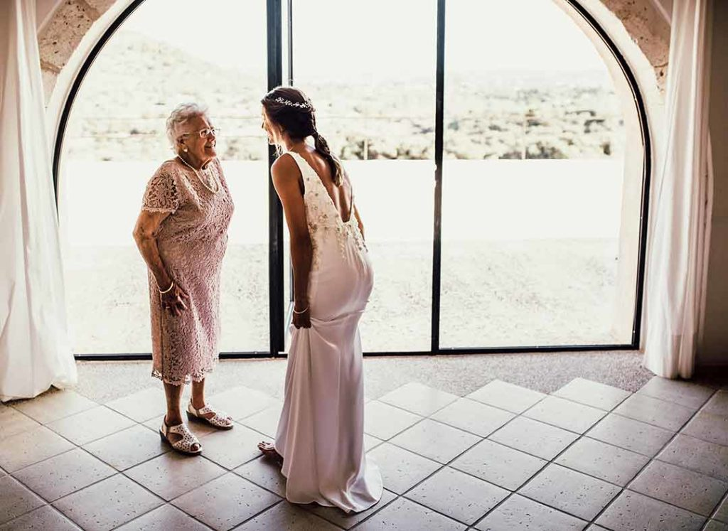 """ALT""Mallorca wedding photographer grandma moment"