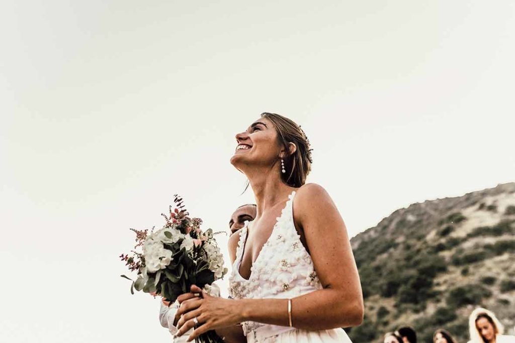 """ALT""Mallorca wedding photographer happy bride"