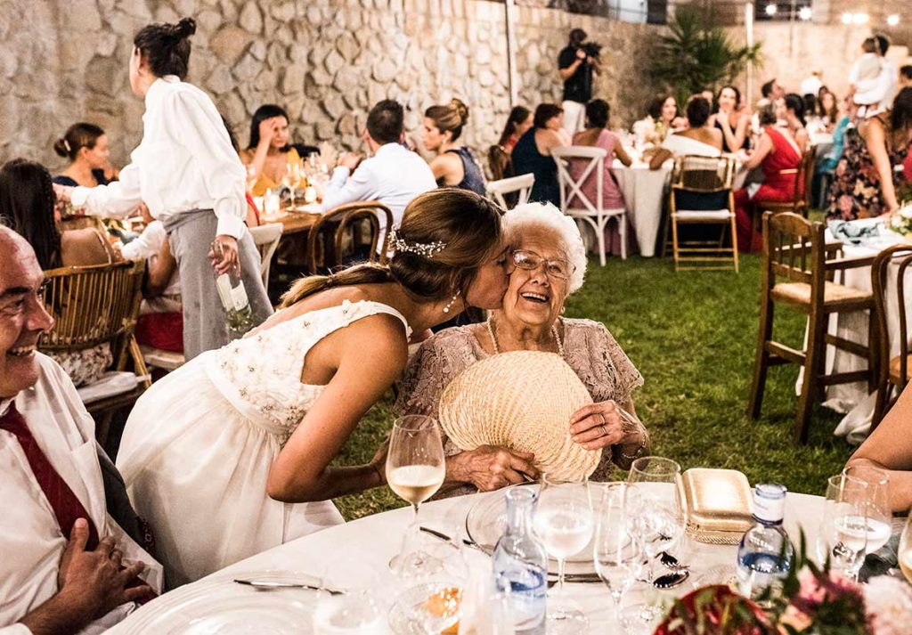 """ALT""Mallorca wedding photographer kiss grandma"