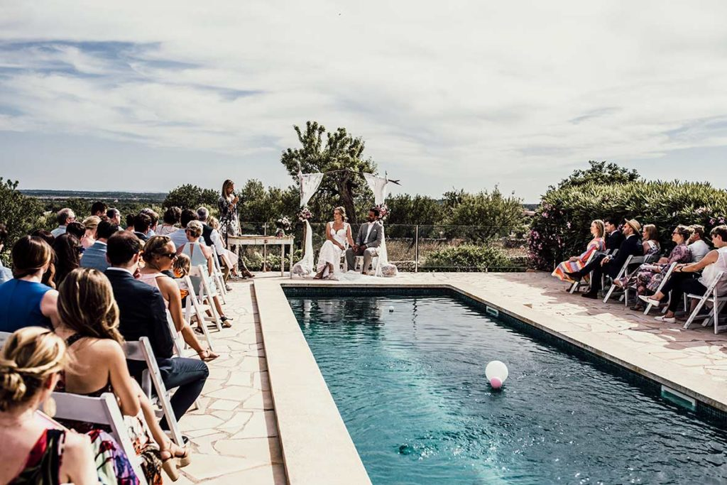 wedding photographer mallorca pool