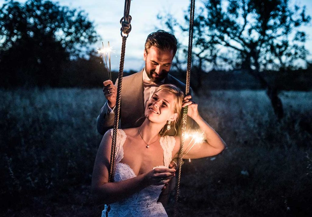 wedding photographer mallorca swing night