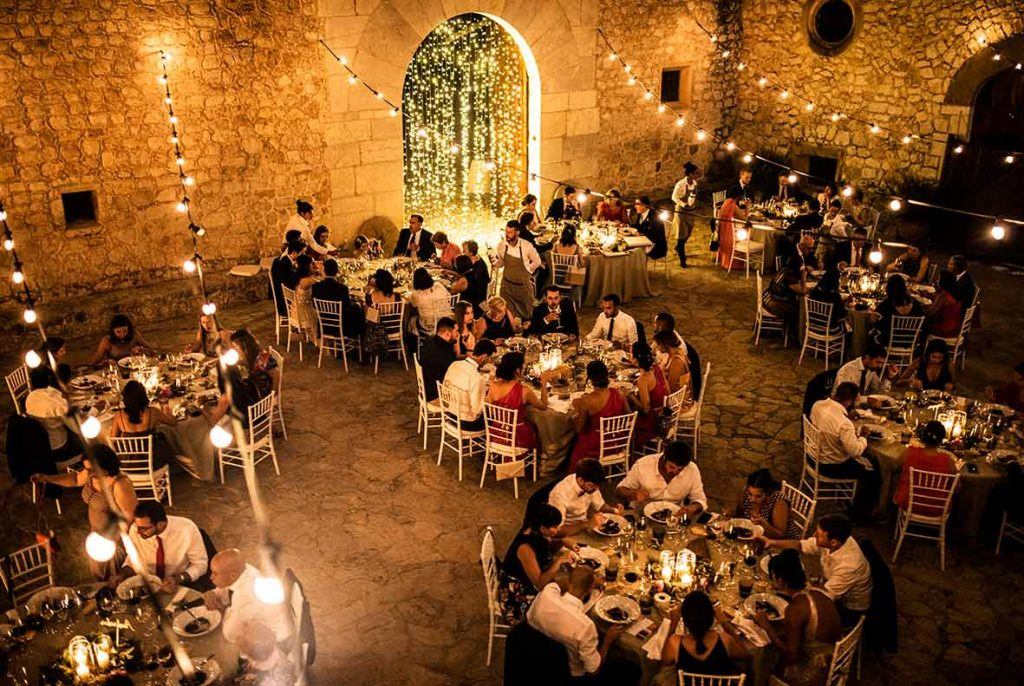 """ALT""incredible weddings in Mallorca Son Berga dinner"