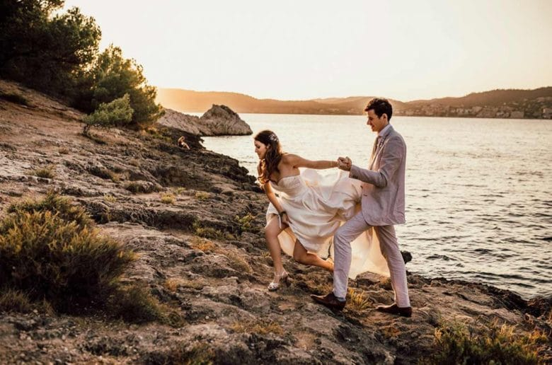 """ALT""postwedding in mallorca dress"
