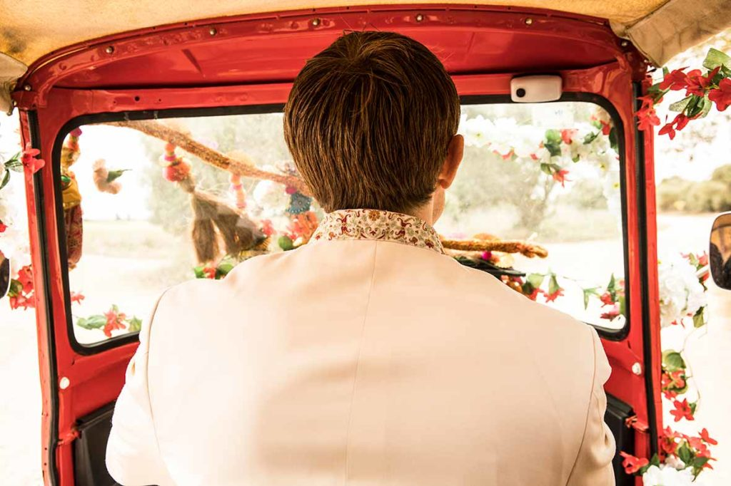 wedding photographers mallorca car