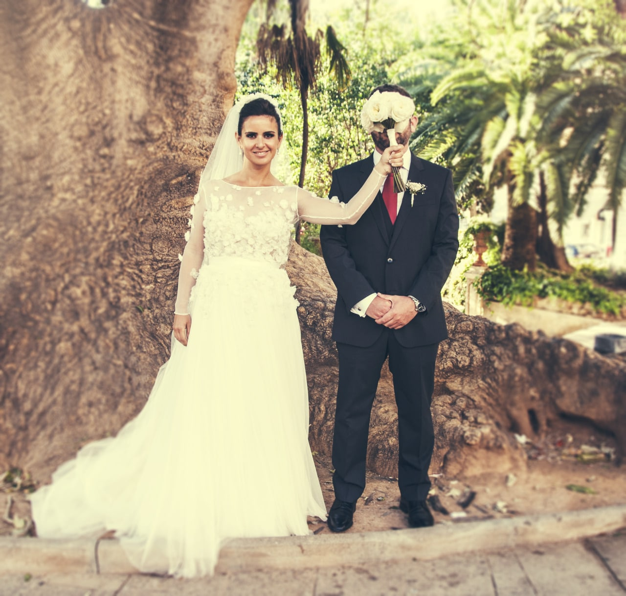 Wedding photographer in Mallorca funny