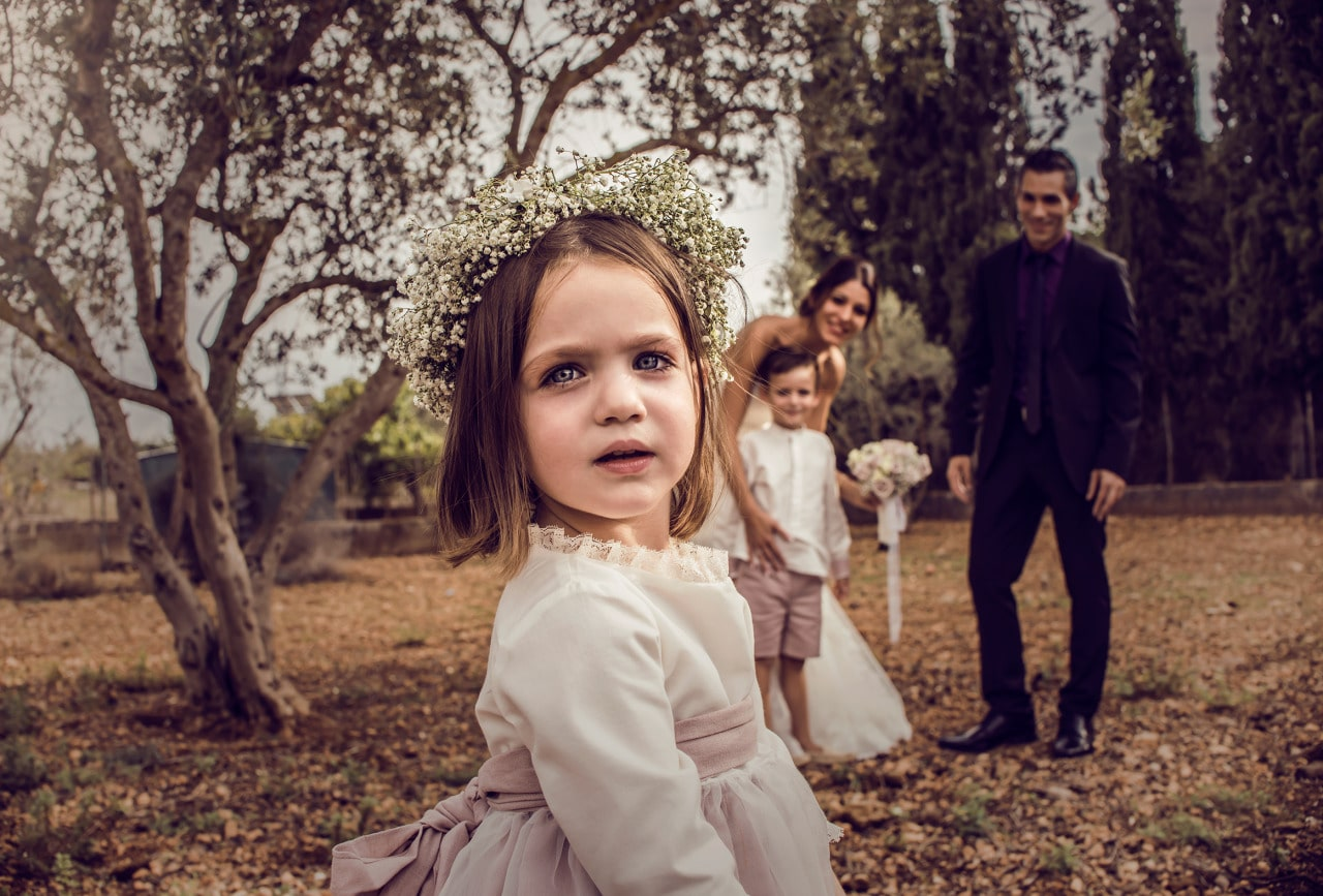 Wedding photography Mallorca kid