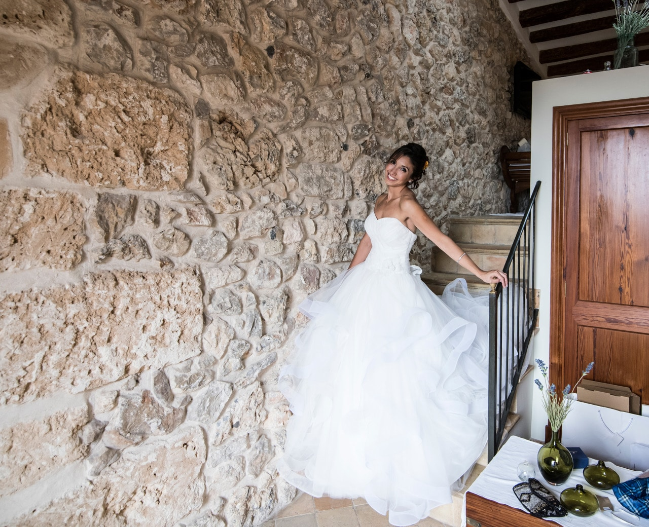 Wedding photography Mallorca dress