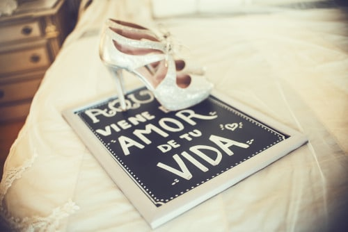 Wedding photographers in Palma de Mallorca shoes